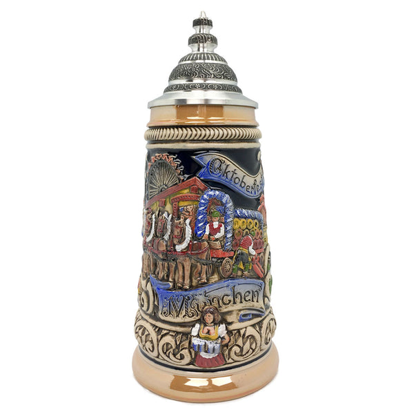Oktoberfest in Munich Zoller & Born .9L German Beer Stein