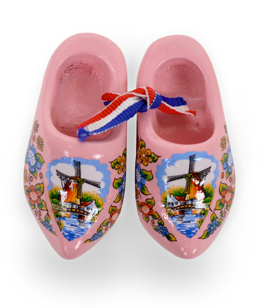 Pink Windmill Wooden Shoes