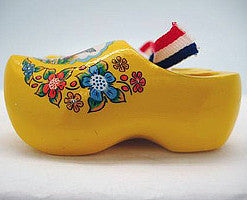 Dutch Wooden Shoes Deluxe Yellow - 1.5 inches, 2.5 inches, Apparel-Costume Shoes, Apparel-Costumes, CT-600, Dutch, Ethnic Dolls, Netherlands, PS-Party Favors, PS-Party Favors Dutch, Shoes, Size, Top-DTCH-B, Tulips, Windmills, wood, Wooden Shoes, Wooden Shoes-Souvenir, Yellow - 2 - 3
