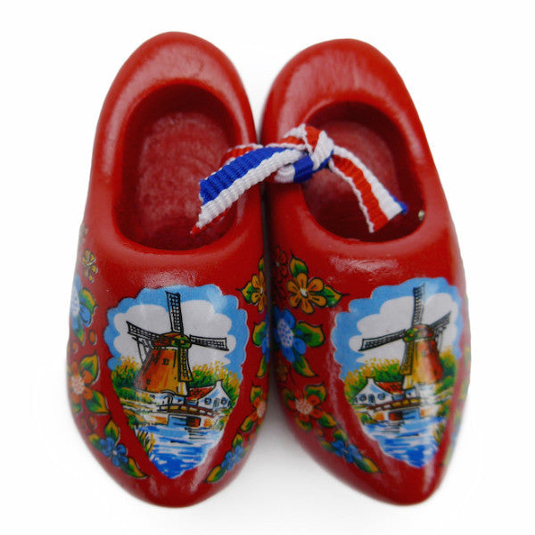 Dutch Wooden Shoes Deluxe Red