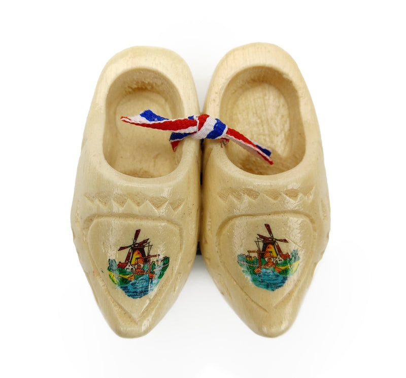 Dutch Carved Wooden Shoes - 2.25 inches, 2.5 inches, 3 inches, 3.25 inches, Apparel-Costume Shoes, Apparel-Costumes, CT-600, Dutch, Ethnic Dolls, Natural, Netherlands, PS-Party Favors, PS-Party Favors Dutch, Shoes, Size, Top-DTCH-B, Windmills, wood, Wooden Shoes, Wooden Shoes-Souvenir