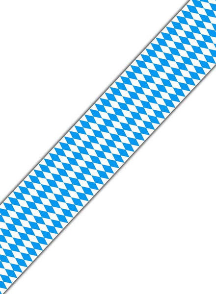 Oktoberfest Bavarian Check Poly Decorating Material 50 Feet - Bavarian Blue White Checkers, Bayern, Hanging Decorations, Oktoberfest, PS- Oktoberfest Decorations, PS- Oktoberfest Essentials-All OKT Items, PS- Oktoberfest Hanging Decor, PS- Oktoberfest Table Decor, PS-Party Supplies, Tableware - 2 - 3