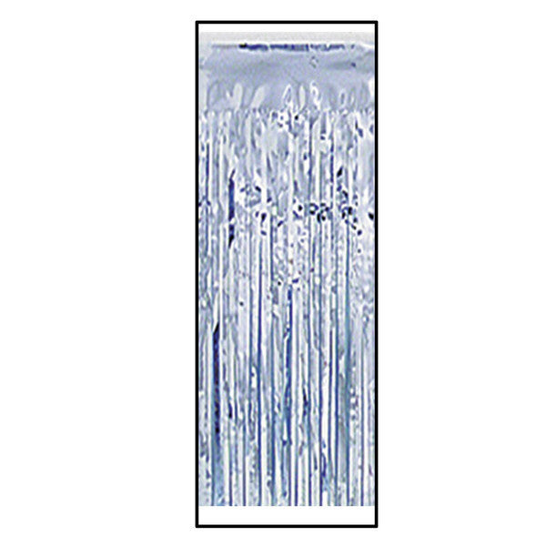 Silver Metallic Table Skirting Decoration - $10 - $20, Foil, Oktoberfest, PS- Oktoberfest Decorations, PS- Oktoberfest Essentials-All OKT Items, PS- Oktoberfest Hanging Decor, PS- Oktoberfest Table Decor, Silver, Tableware - 2 - 3