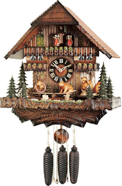 River City Eight Day Musical Cuckoo Clock with Bears Revolving Seesaw