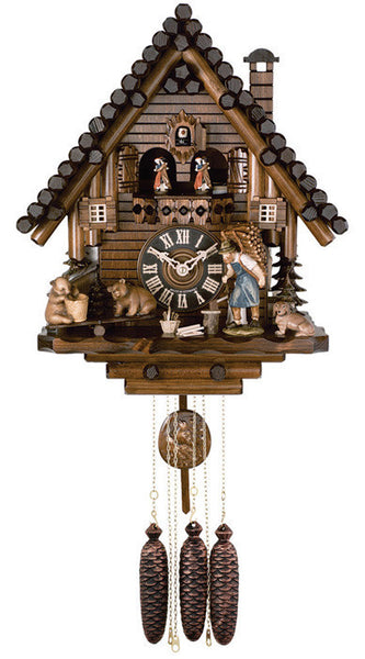 River City Clocks Eight Day Musical Cuckoo Clock with Bears and Seesaw