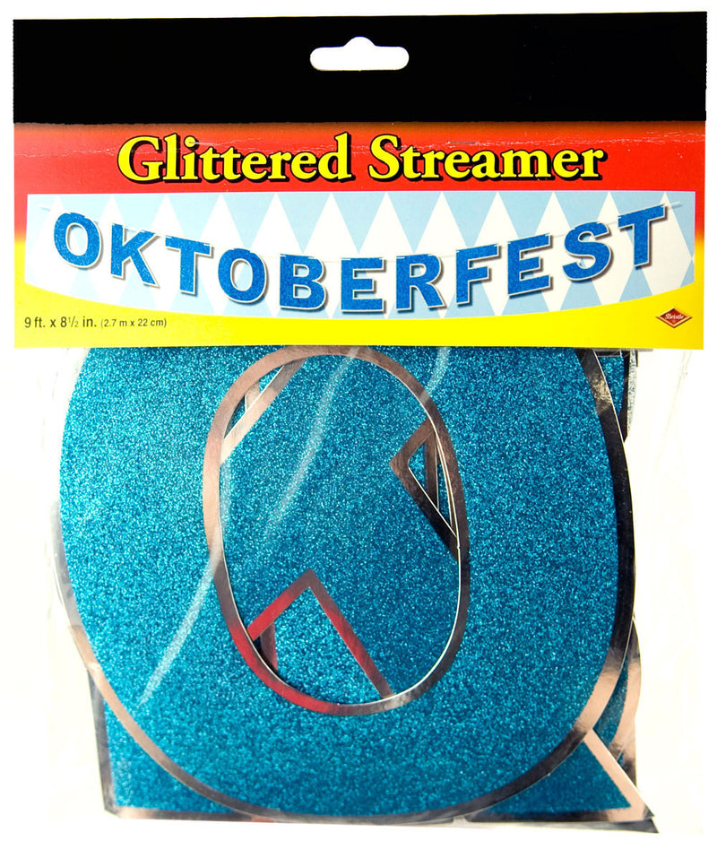 Oktoberfest Party Streamer And Glittered - Below $10, Foil, Hanging Decorations, Multi-Color, Oktoberfest, PS- Oktoberfest Decorations, PS- Oktoberfest Essentials-All OKT Items, PS- Oktoberfest Hanging Decor, PS- Oktoberfest Table Decor, Tableware - 2