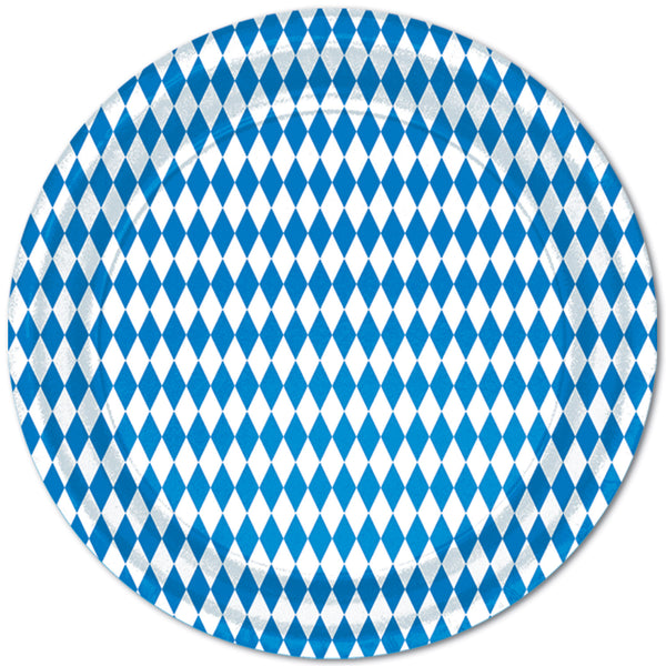 Bavarian Pattern Oktoberfest Decorations: Plates 9