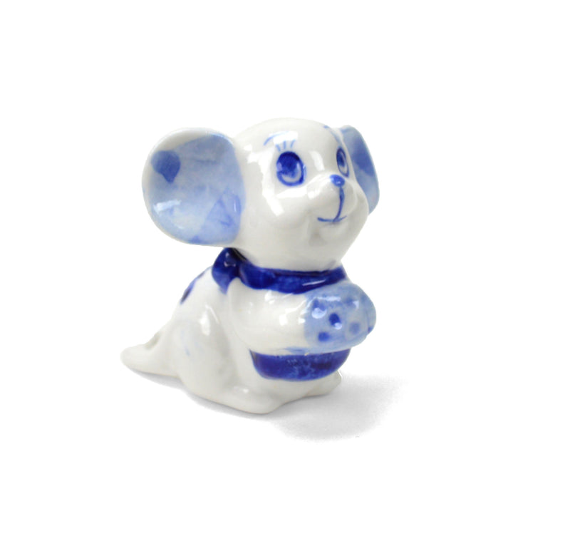 Ceramic Miniatures Mouse w/Cheese - Animal, Blue, Collectibles, Color, Decorations, Delft Blue, Dutch, Figurines, General Gift, Home & Garden, Miniatures, PS-Party Favors, Top-GNRL-B