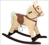 Small Palomino plush rocking horse with sound effects