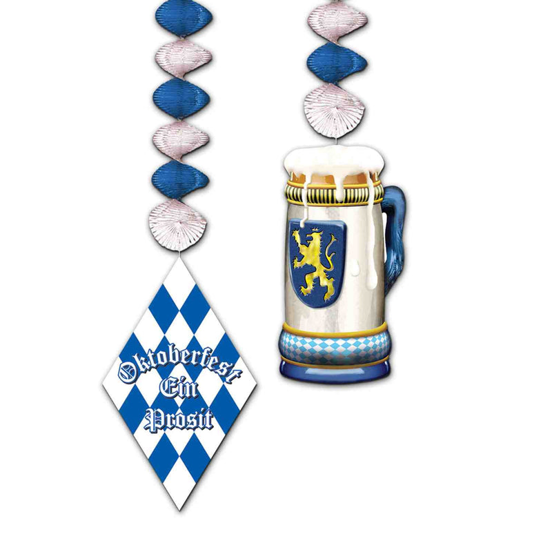 30-Inch Oktoberfest Danglers - 30-Inch, Below $10, Foil, Hanging Decorations, Multi-Color, Oktoberfest, PS- Oktoberfest Decorations, PS- Oktoberfest Essentials-All OKT Items, PS- Oktoberfest Hanging Decor, Top-OFST-B