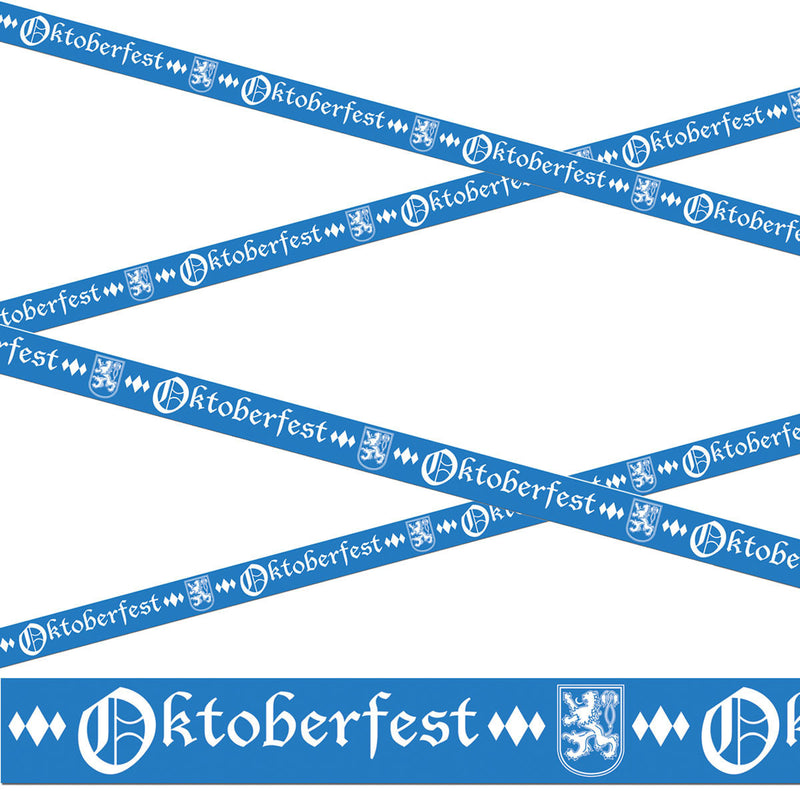 Oktoberfest All Weather Party Tape 20 Feet - Below $10, Hanging Decorations, Multi-Color, Oktoberfest, Plastic, PS- Oktoberfest Decorations, PS- Oktoberfest Essentials-All OKT Items, PS- Oktoberfest Hanging Decor, PS- Oktoberfest Table Decor, PS-Party Favors, PS-Party Supplies, Tableware, Top-OFST-B - 2