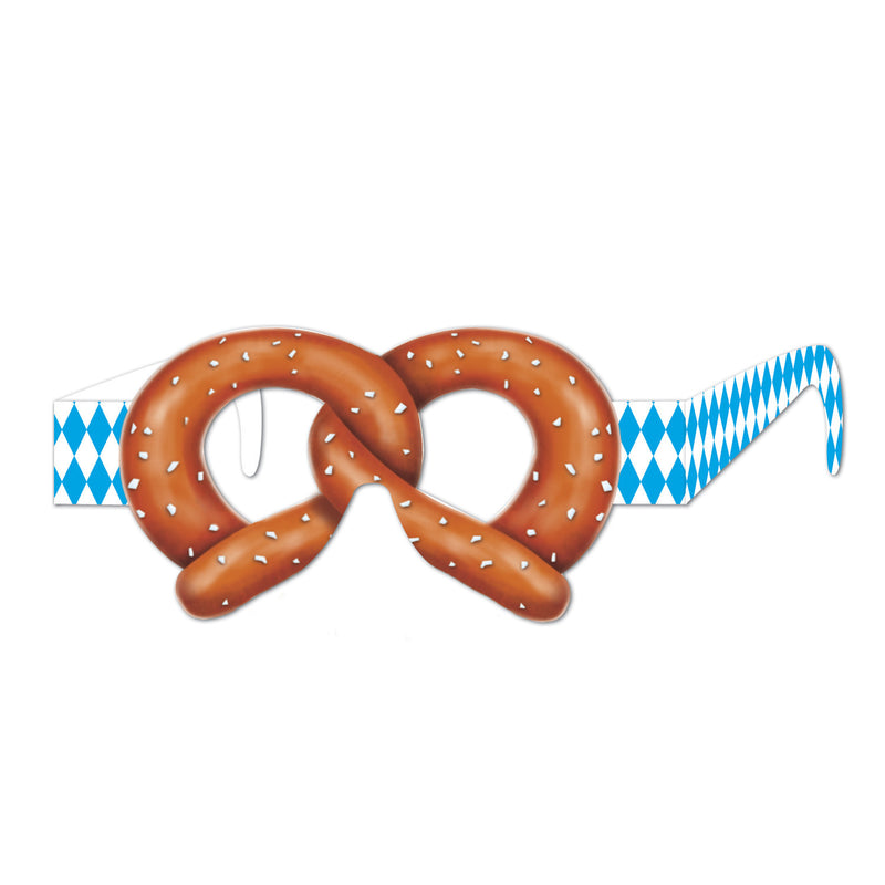 Oktoberfest Pretzel Eyeglasses Pack of 12 - Below $10, Oktoberfest, One Size, Polyester, PS- Oktoberfest Decorations, PS- Oktoberfest Essentials-All OKT Items, PS- Oktoberfest Hanging Decor, PS-Party Favors, Womens, Yellow