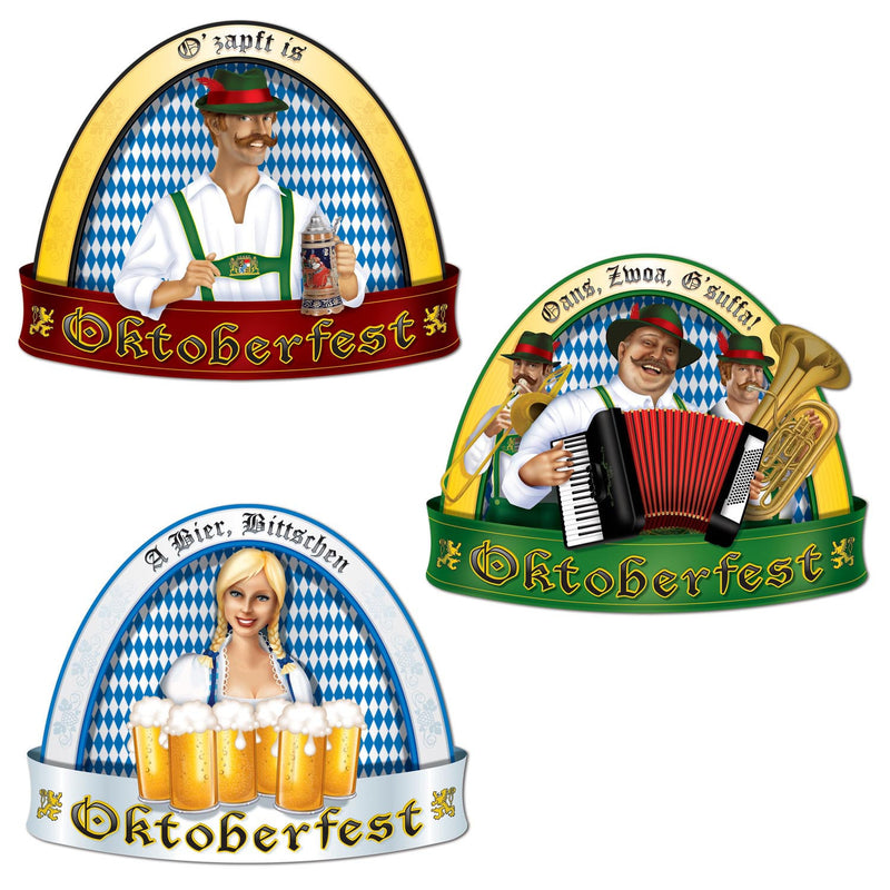 Oktoberfest People Cutout Wall Decorations - Below $10, Hanging Decorations, Multi-Color, Oktoberfest, PS- Oktoberfest Decorations, PS- Oktoberfest Essentials-All OKT Items, PS- Oktoberfest Hanging Decor, PS- Oktoberfest Table Decor, Tableware, Top-OFST-B - 2 - 3 - 4 - 5
