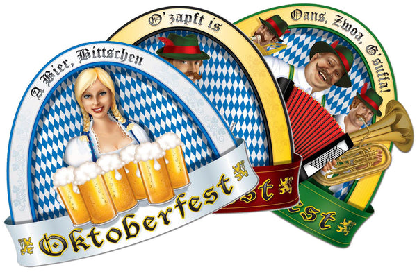 Oktoberfest People Cutout Wall Decorations