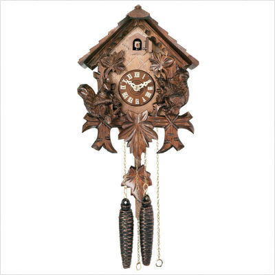 River City Clocks One Day Cottage with Squirrels Cuckoo Clock