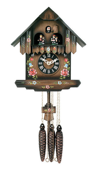 River City Clocks One Day Musical Cuckoo Clock with Cottage with Painted Flowers