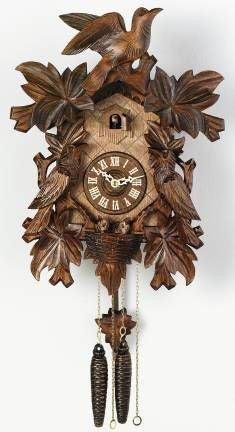 River City Clocks One Day Seven Leaves Three Birds with Nest Cuckoo Clock