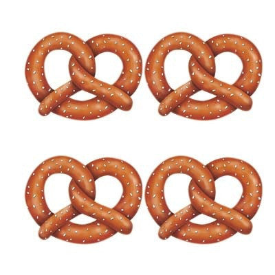 Oktoberfest Pretzel Cutout Wall Decorations - $10 - $20, Brown, Hanging Decorations, Oktoberfest, PS- Oktoberfest Decorations, PS- Oktoberfest Essentials-All OKT Items, PS- Oktoberfest Hanging Decor, PS- Oktoberfest Table Decor, Tableware