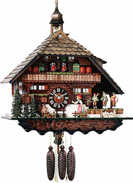 Eight Day Musical Cuckoo Clock with Bell Ringer and Oompha Band