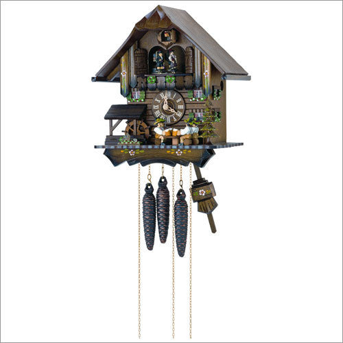 Musical Four Beer Drinkers Cuckoo Clock Schneider Black Forest 12
