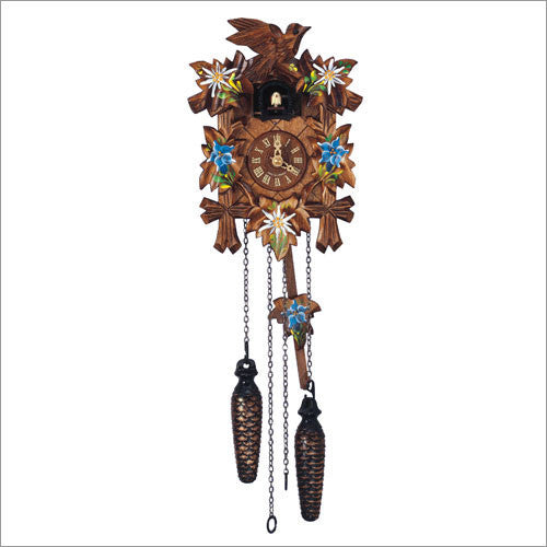 Schneider Traditional Quartz Cuckoo Clock with Hand Painted Flowers
