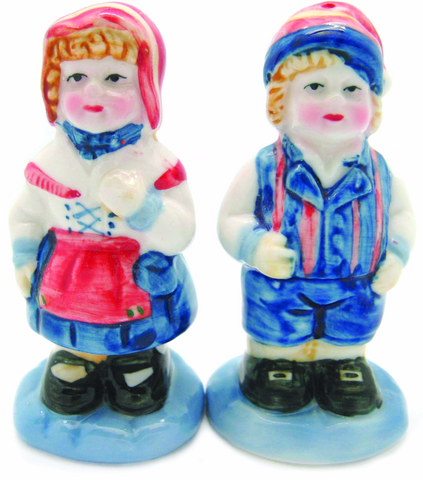 Vintage Salt & Pepper Shakers Scandinavian Standing Couple