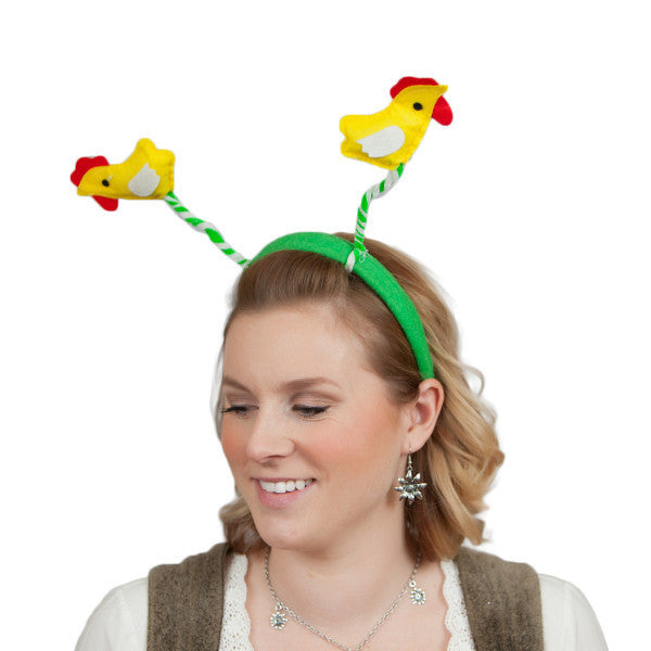Chicken Dance Headband Oktoberfest Costume Headwear - Animal, Apparel-Costumes, Chicken Dance, Felt, German, Germany, Hats, Hats-Headband, Hats-Kids, Hats-Party, PS-Party Supplies, Top-GRMN-B - 2 - 3