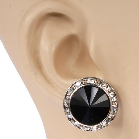 20mm Rondell Crystal Performance Earrings (Clip-on)