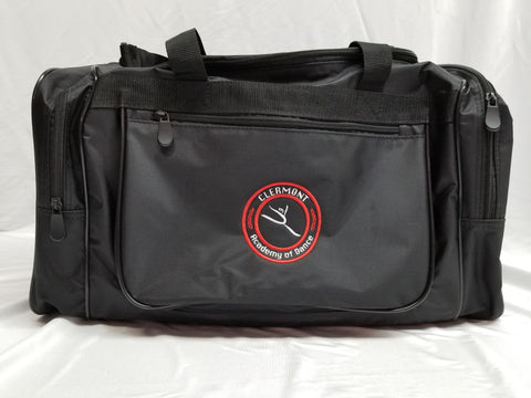 Clermont Academy of Dance Old Logo Black Duffel Bag