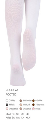 7A Footed Tights Adult