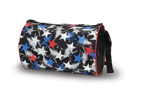 Metallic Stars Gymnastics Duffle Bag