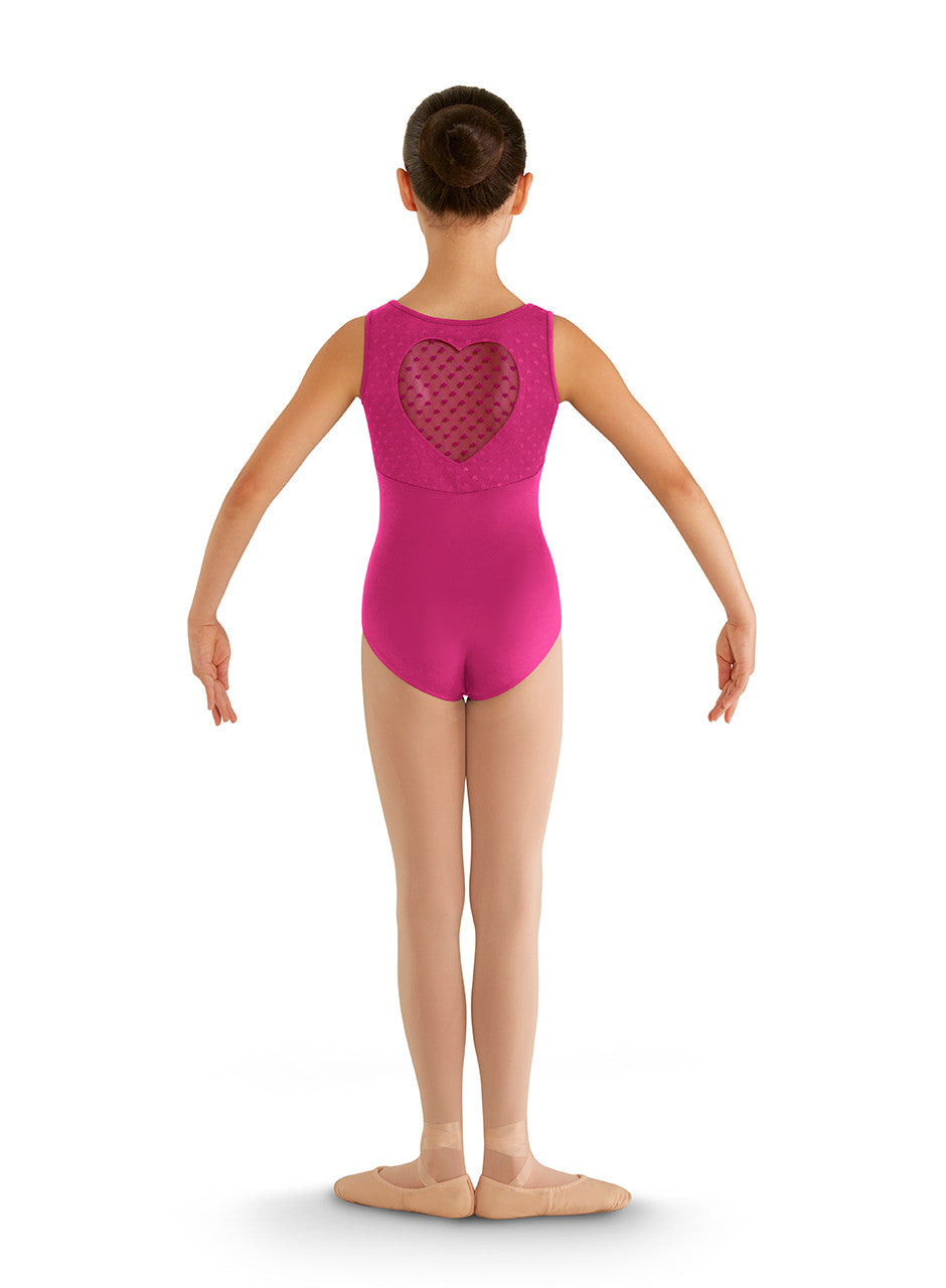 CL7905 Children's Heart Mesh Tank Leotard
