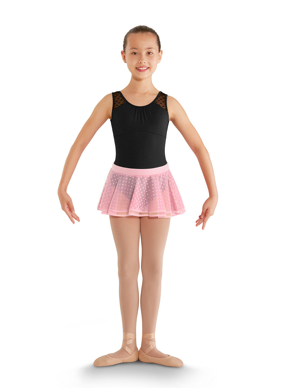 CR7921 Children's Heart Mesh 2 Layer Skirt