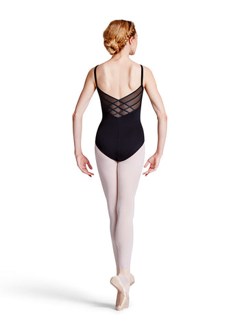L8820 Diamond Mesh Back Adult Camisole Leotard