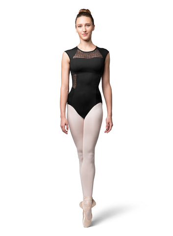 L9812 LAYLA ADULT ZIP BACK CAP SLEEVE LEOTARD