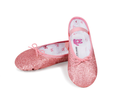 "Bloch Girl's ""Glitterdust"" Fullsole Leather Ballet shoe"