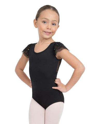 Glitter Rose 11528C Child Flutter Sleeve Leotard