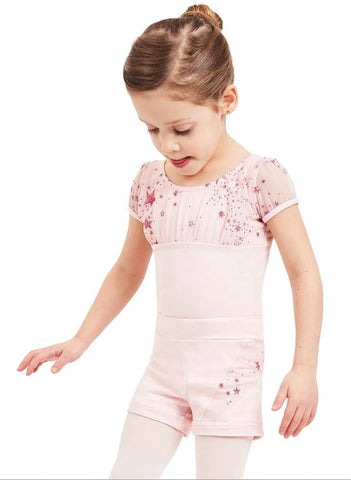 Shooting Stars 11625C Puff Sleeve Leotard