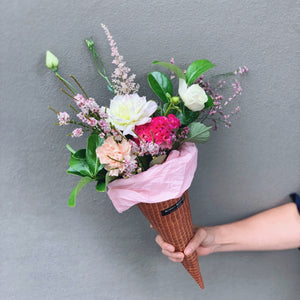 Flower Cone - Strawberry Fairy Floss