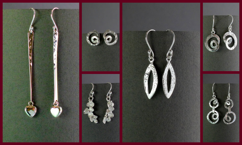Mexican silver earrings for elegant summer evenings.