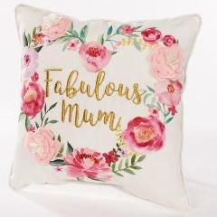 Fabulous Mum Heart Cushion - cibola