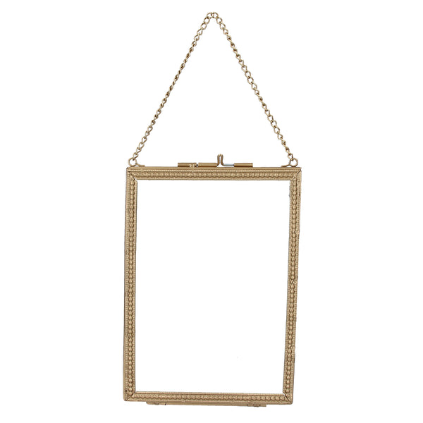 Hanging Photo Frame - Gold - cibola