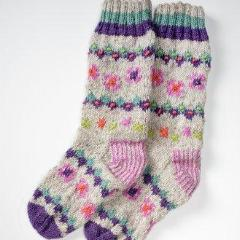 Warm Socks with Bead Detail - cibola