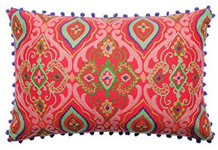 Farisha Embroidered Cushion Cover - Red