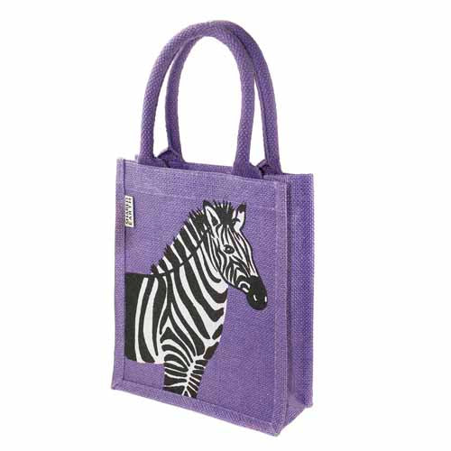 Jute Bag - Zebra Design - cibola