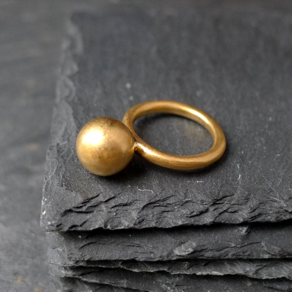 Globe Gold Ring - cibola