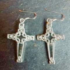 Celtic Cross Earrings - cibola