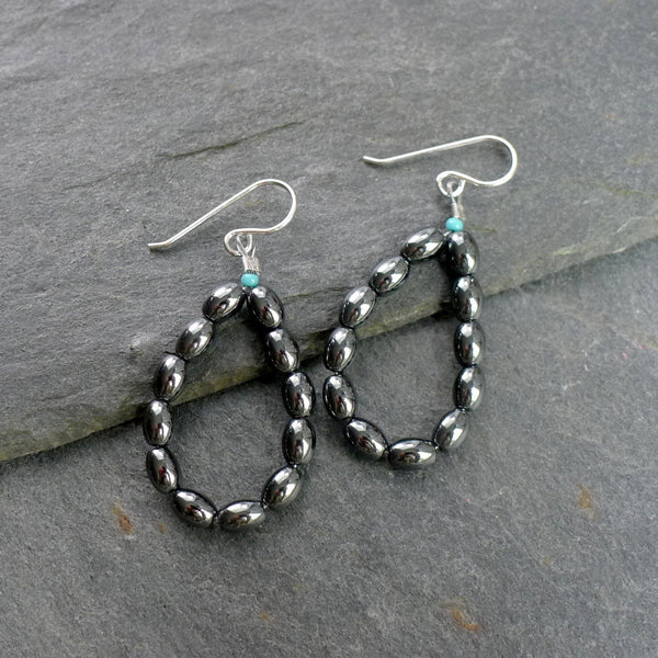 Hematite Hoop Earrings - cibola