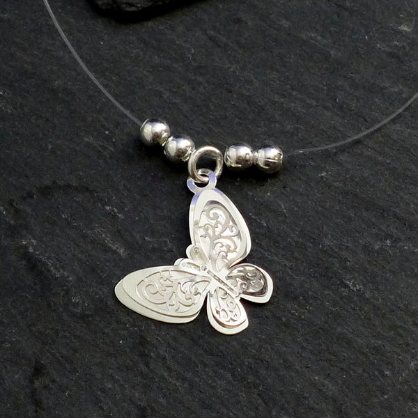Butterfly Silver Necklace - cibola - 1