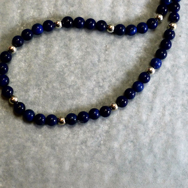 Blue Bead Necklace - cibola